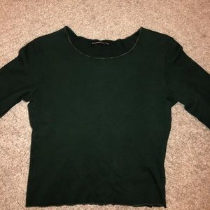 Brandy Melville Cropped Lettuce Long Sleeve